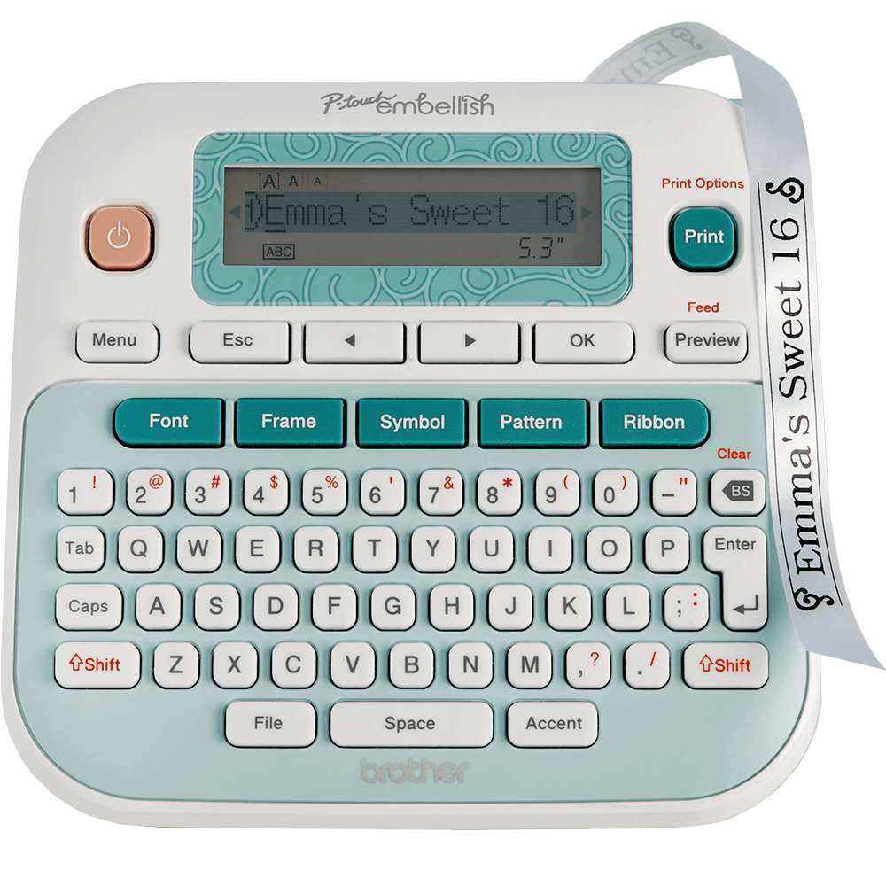 P-touch Label Makers and P-touch Ribbon Printers